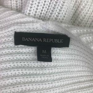 Banana Republic Sweaters - Banana Republic Open Front Cocoon Sweater White
